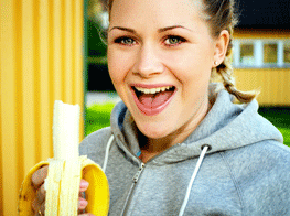 Healthy eating habits : Grab some banana.